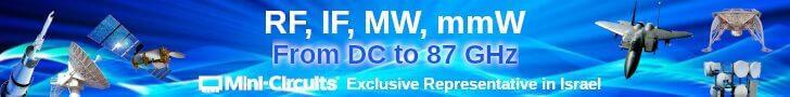 MCDI-Mini-Circuits Israel, RF, IF, MW, mmW, from DC to 87 GHz