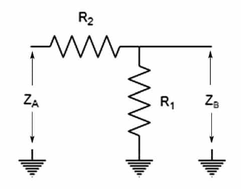 Figure 1: Schematic for an L-Pad